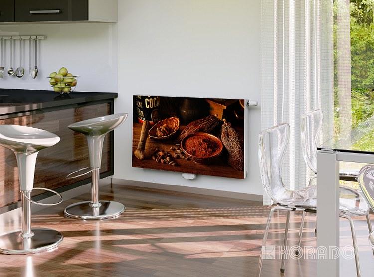 radiátory Korado s fotografií